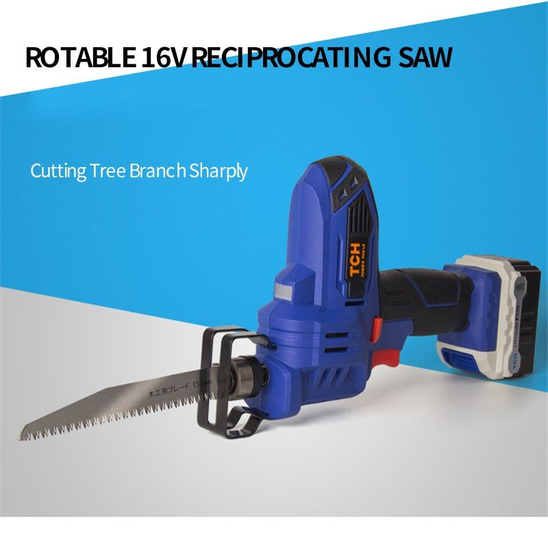 TCH 16V Portable Charging Reciprocating Saw Electric Saber Saw for wood mutifunctional power tools with 4000mAh lithium battery