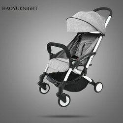 HaoYuKnight Carrinho De Bebe Léger Poussette Rapide Pliage Poussette En Alliage D'aluminium Bébé poussettes