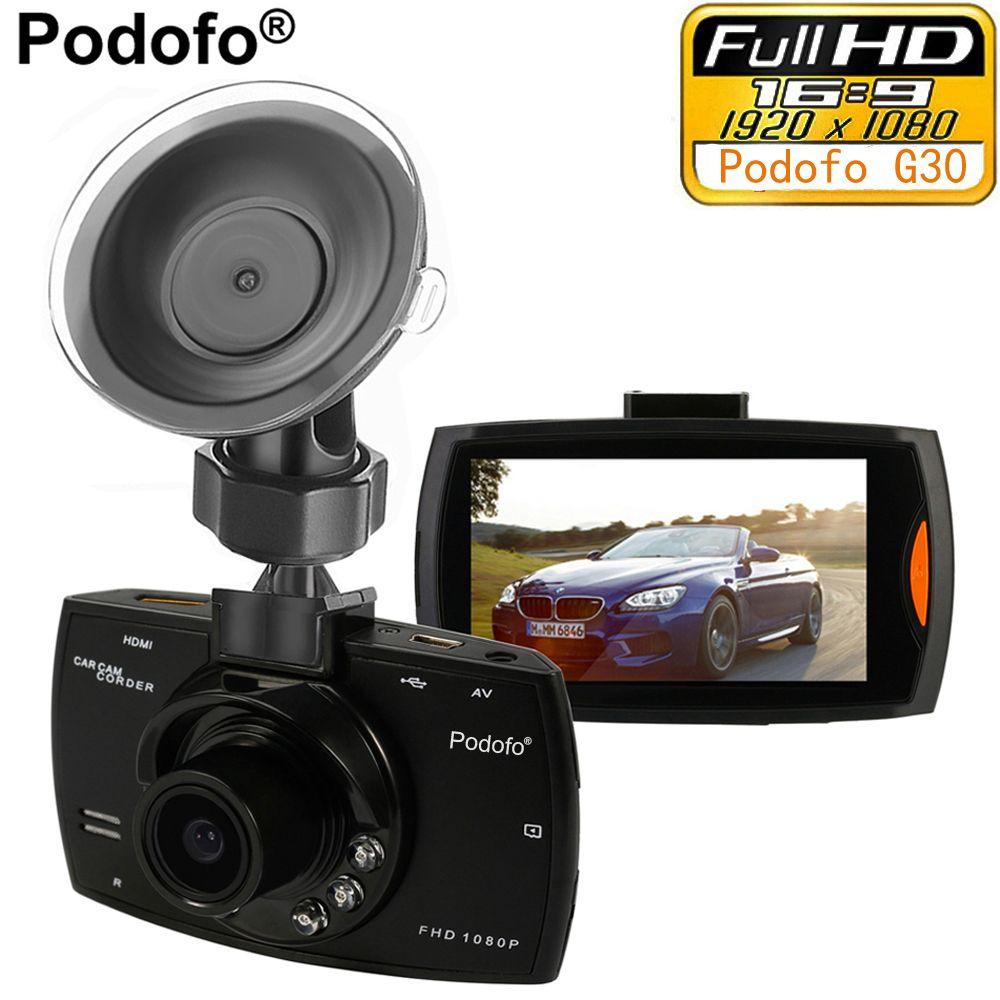 Podofo Voiture Caméra G30 Full HD 1080 p 2.7 Voiture Dvr Conduite Enregistreur + Détection de Mouvement de Vision Nocturne G -capteur 32 gb Dvr Dash Cam