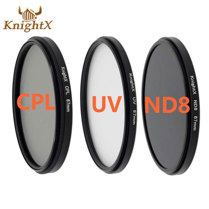 KnightX CPL Lentille UV Filtre 58mm ND Pour nikon Canon t5i T3i T4i 550D 600D 650D 1100D 60D Caméra DSLR D5200 D5300 D3100 D3300 52 MM