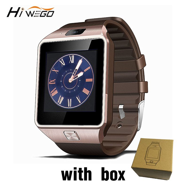 Smart Watch <font><b>Clock</b></font> With Sim Card Slot Push Message Bluetooth Connectivity Android Phone Better Than DZ09 Smartwatch Men Watch