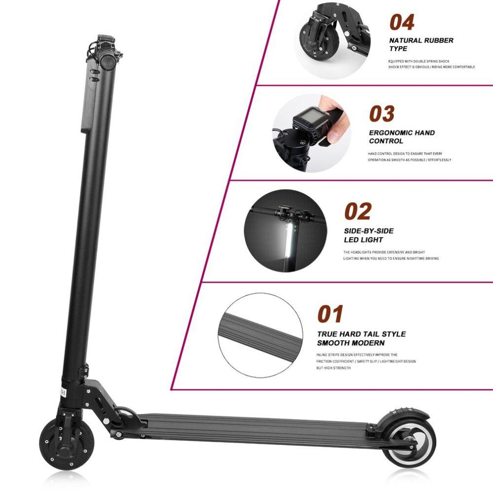 Elektrische Tretroller Faltbaren Aluminium-legierung Elektroroller Für Erwachsene LCD Display 2 Räder FÜHRTE Licht 120 kg Last Tragbare HEIßER