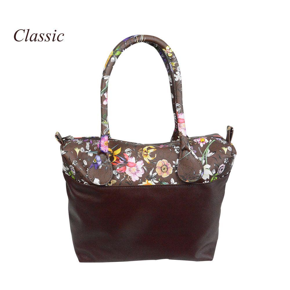 Новый цветок печатных вставить внутренний карман на молнии холст плюс ручки companition для классического obag o сумки женские сумки