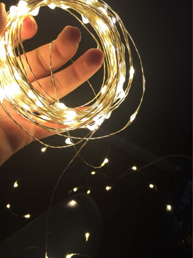 2017 New Year RGB LED String Copper wire 3AA Batteries 33FT 10M 100 leds String Lights Mini holiday lighting