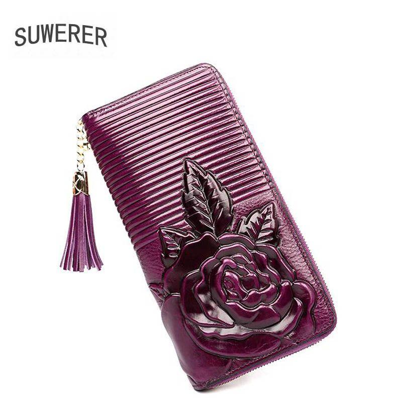 2018 Nouveaux sacs En Cuir Véritable En Trois Dimensions gaufrage de luxe de mode gland femmes sacs designer femmes en cuir portefeuilles
