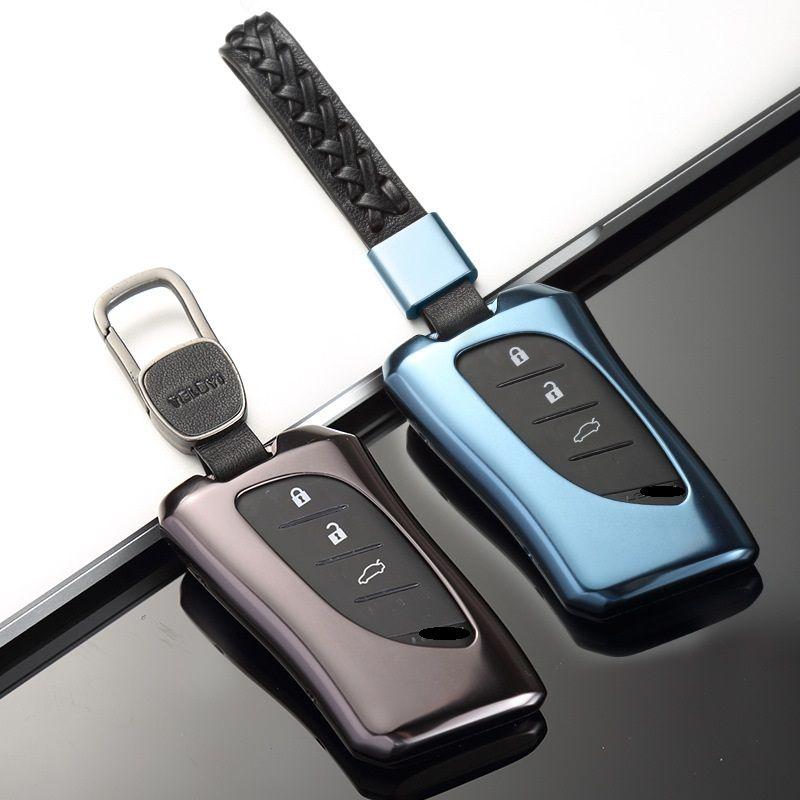 Auto Alunimnum Legierung Keychain Abdeckung Shell Halter Fall Für Lexus 2018 ES300h ES350 ES200 ES260 LS350 LS500h Fob Schlüssel Auto -Styling