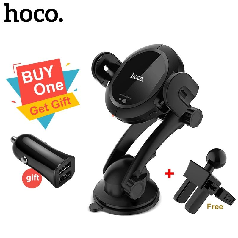 HOCO Qi wireless Car Charger Stand Automatic infrared clip Air Vent Mount Car Phone Holder 10W Fast Charger for iphone XS Max XR