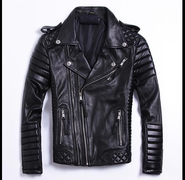 Free shipping.DHL Plus size Brand classics soft sheepskin leather Jackets men men's genuine Leather jacket.fashion slim