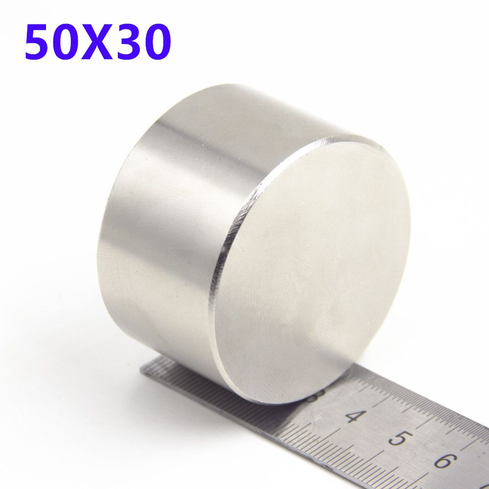 1pcs Neodymium N35 Dia 50mm X 30mm Strong Magnets Tiny Disc NdFeB Rare Earth For Crafts Models Fridge Sticking 50*30mm