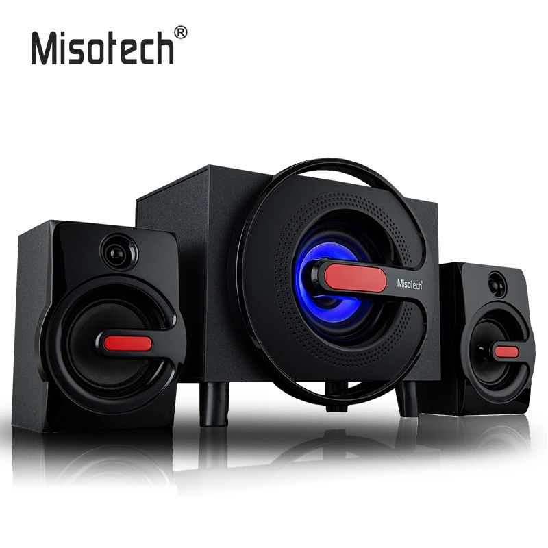 High Quality 3.5mm Subwoofer Wooden Speakers With Bluetooth SD Card U-Disk to Play Music For Home Office PC Computer Smartphones