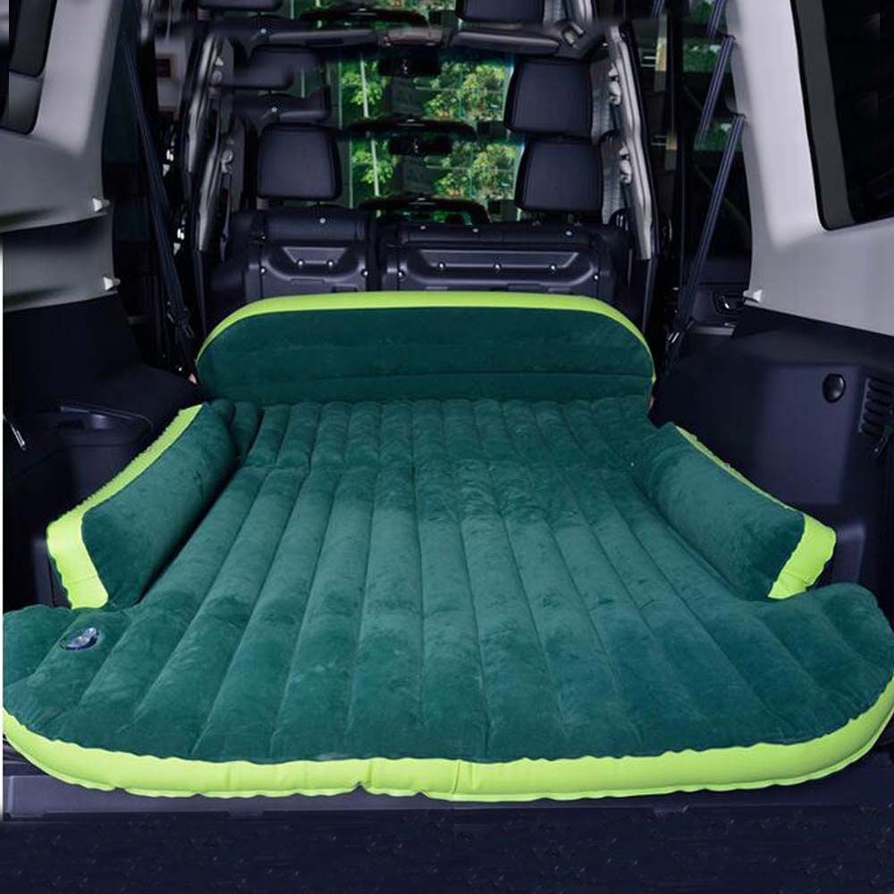 SUV Car Inflatable Mattress - Seat Travel Bed Air Mattress With Air Pump Outdoor Camping Moisture-proof Pad