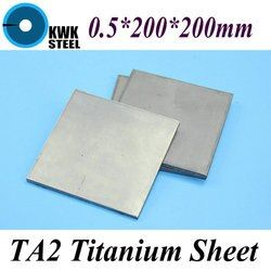 0.5*200*200mm Lembar Titanium Ti Gr1 Titanium TA2 Murni UNS Piring Industri atau Bahan DIY Gratis pengiriman