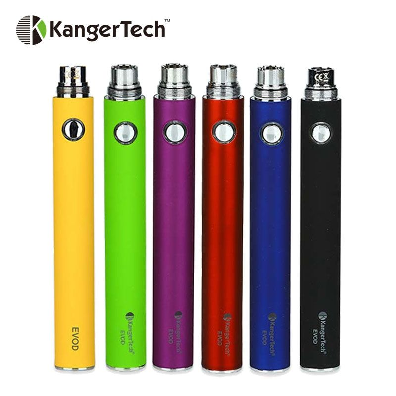 Original Kangertech EVOD Manual Battery Built-in 1000mAh Battery with 5-click Protection Compatible for EGo Tank Vape Battery