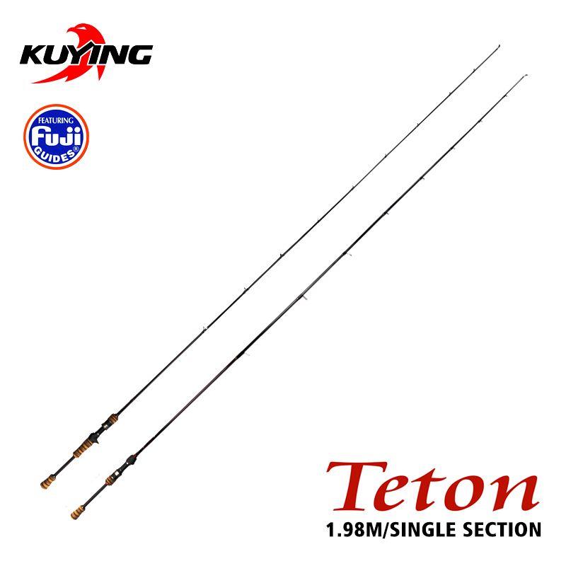 KUYING TETON L 1,98 mt Casting Spinning Carbon Faser Angelrute Cane Pole-Stick Medium Schnelle Action FUJI Ersatzteile 1 abschnitt