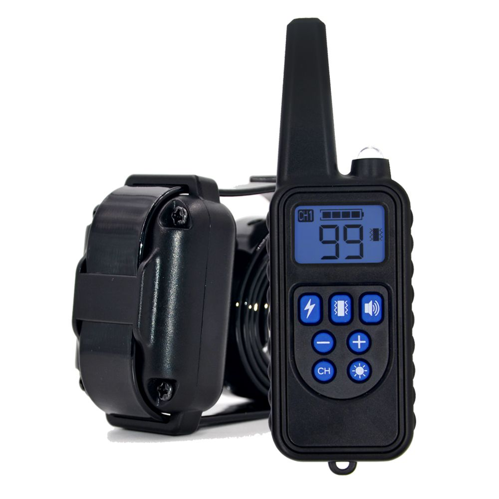 Remote Control Waterproof Dog Training Electric Shock Collar Rechargeable Adjustable Levels Dog Training Collar dog accessories