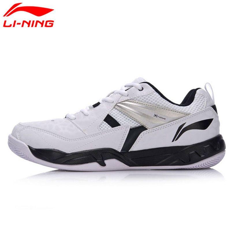 Li Ning hombres originales Bádminton entrenamiento Zapatos transpirable usable antideslizante forro deportes Zapatos sneakers aytm079