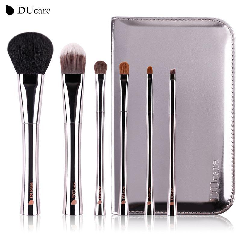 DUcare 6 pcs pinceau de maquillage professionnel make up brush set avec haute qualité de luxe sac pinceaux de maquillage avec sac livraison gratuite