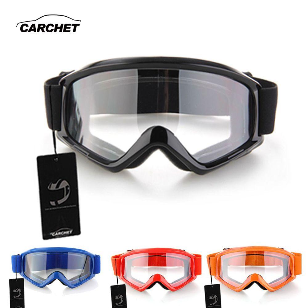 CARCHET lunettes de Motocross lunettes moto Enduro tout-terrain Hemlet lunettes coupe-vent lunettes verres clairs noir bleu Orange