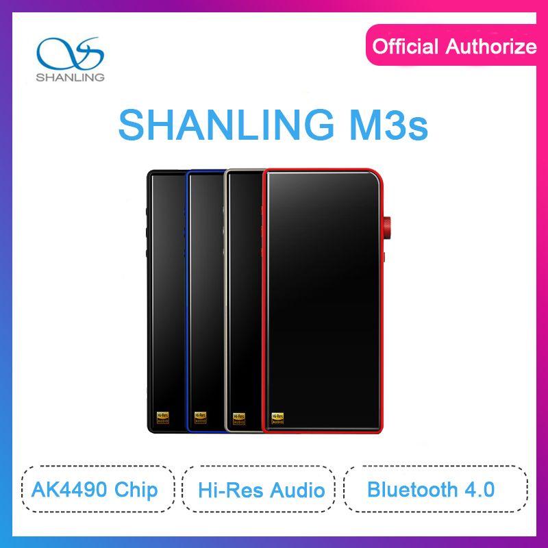 Shanling M3s Dual dac ak4490 Hi-Res 32bit/384kHz Bluetooth 4.1 Lossless MP3 Player Balanced Out PO/LO Hiby Link