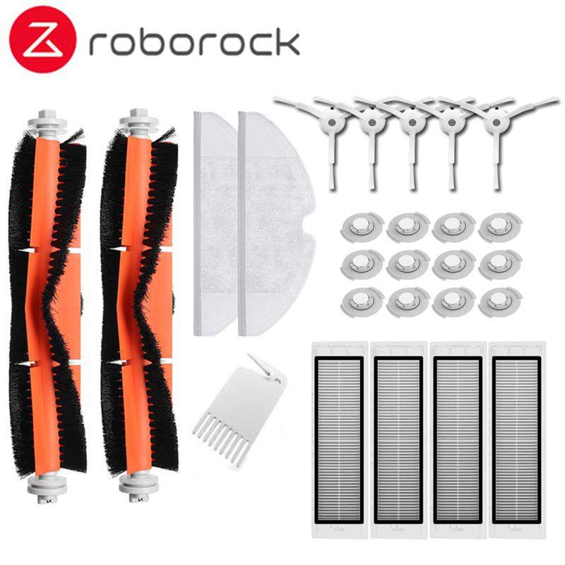 Brosse principale Hepa filtre brosse latérale chiffons de vadrouille adapté pour Xiao mi mi Robot Roborock s50 s51 Roborock 2 Kit de pièces de rechange pour aspirateur