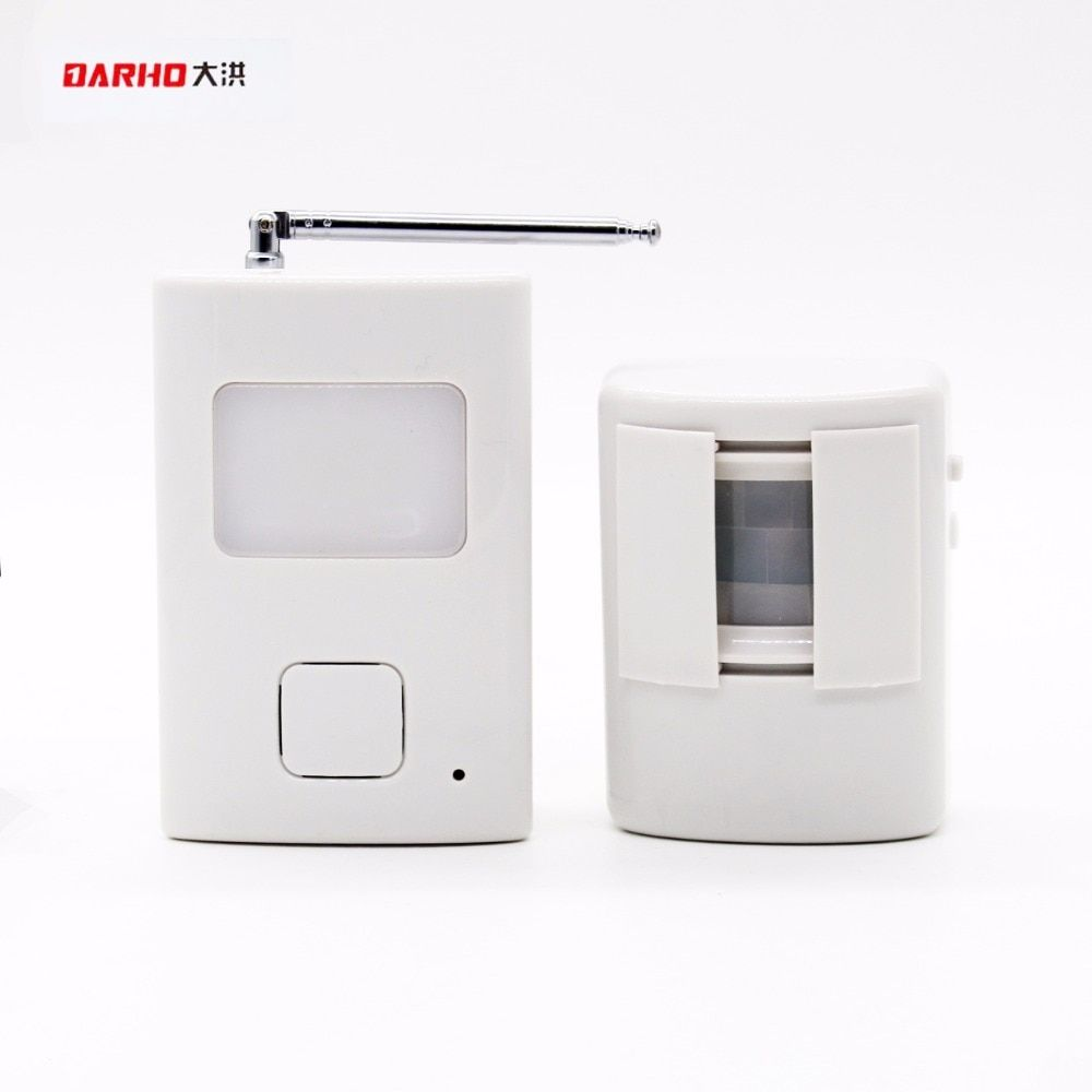 DARHO Welcome device Shop Store Home Welcome Chime Wireless Infrared IR Motion Sensor Door bell Alarm Entry <font><b>Doorbell</b></font> Reach 300m
