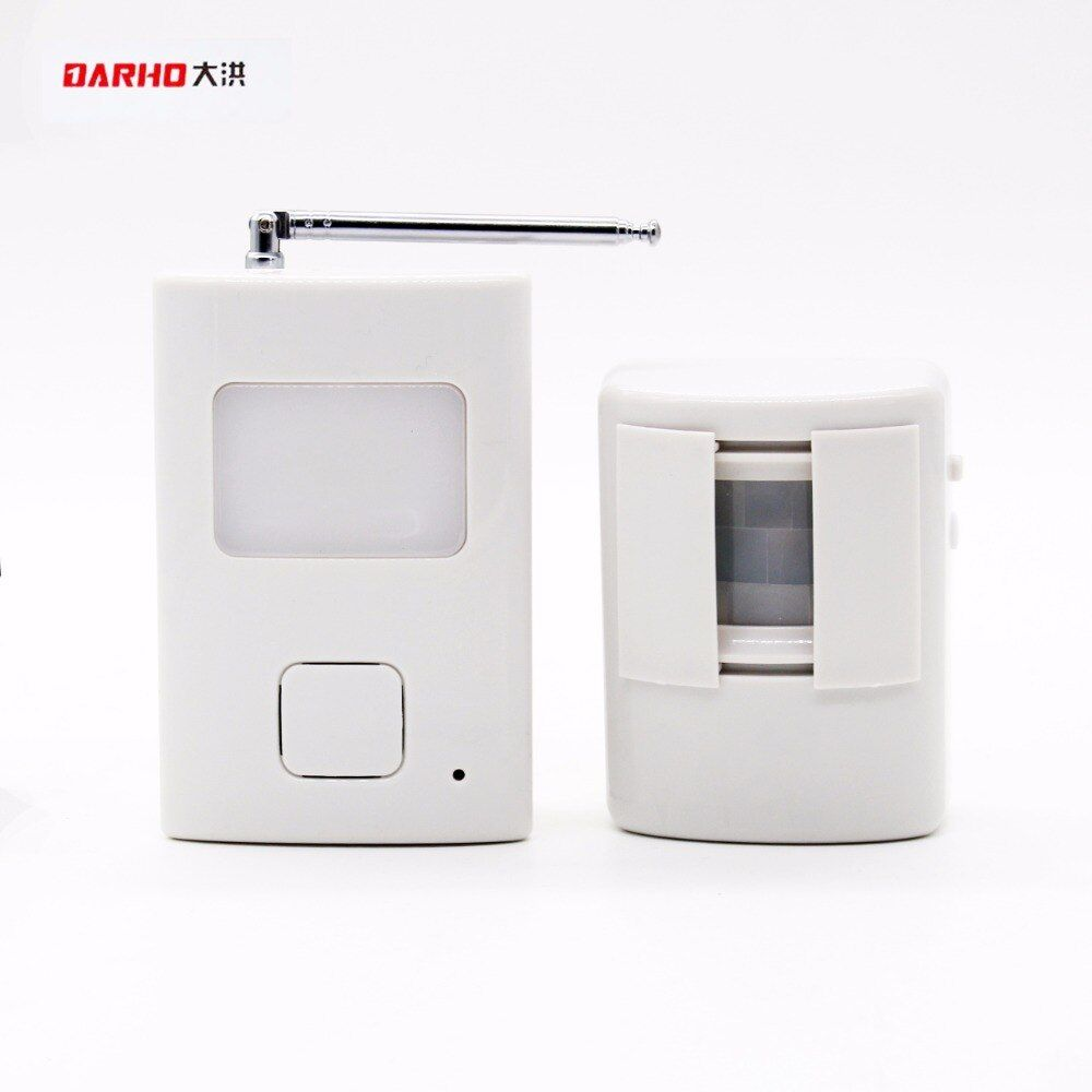 DARHO Welcome device Shop Store Home Welcome Chime Wireless Infrared IR Motion Sensor Door <font><b>bell</b></font> Alarm Entry Doorbell Reach 300m