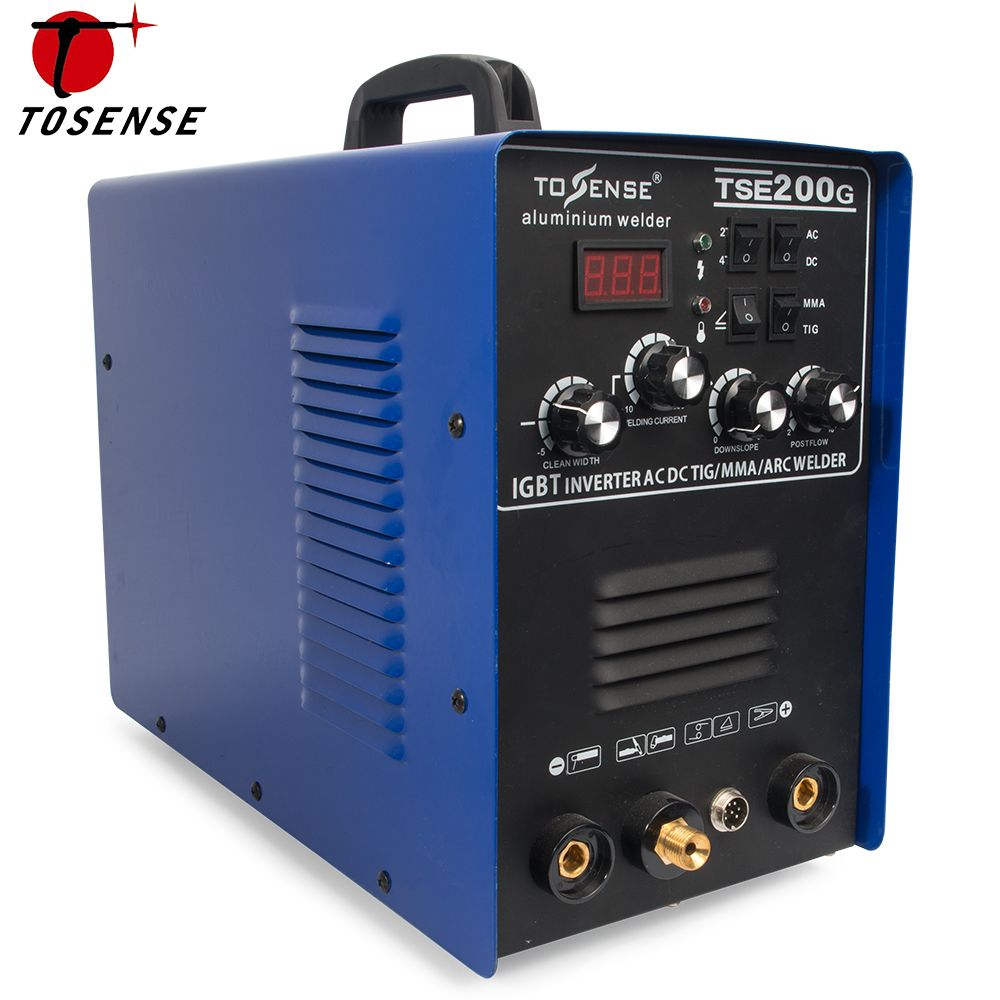 Aluminum Welder 220V TIG MMA ARC Stick 200A Welder AC DC IGBT Inverter Welding Machine With Welding Consumables TSE200G