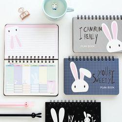 Limitada del envío libre Organizador conejo encantador Totoro Chinchilla aprendizaje eficiencia Plan planificador Coil libro cuaderno calendario