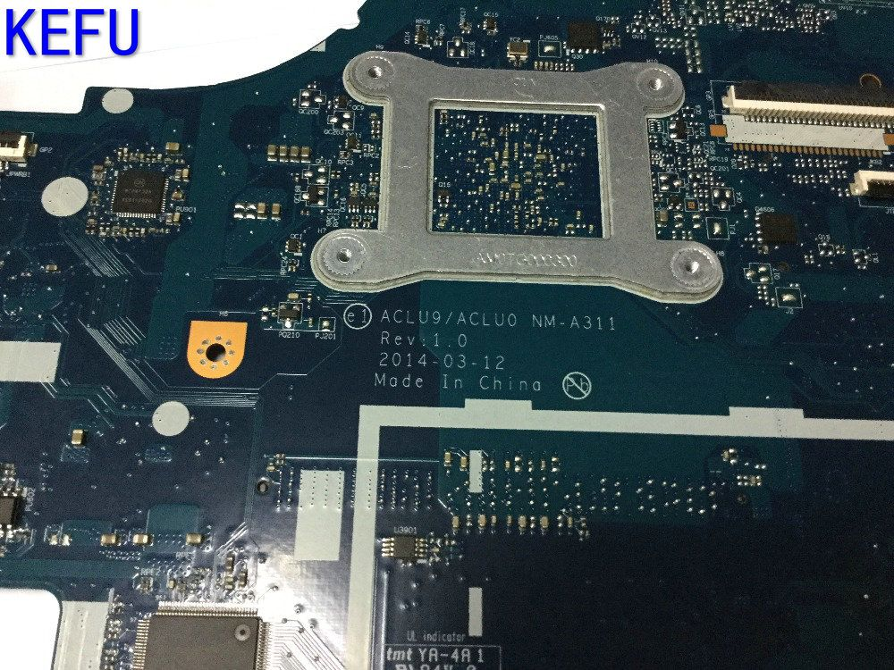 KEFU SUPER HOT IN RUSSIA FREE SHIPPING ACLU9/ ACLU0 NM-A311 Laptop motherboard for Lenovo G50-30 Notebook pc COMPARE PLEASE