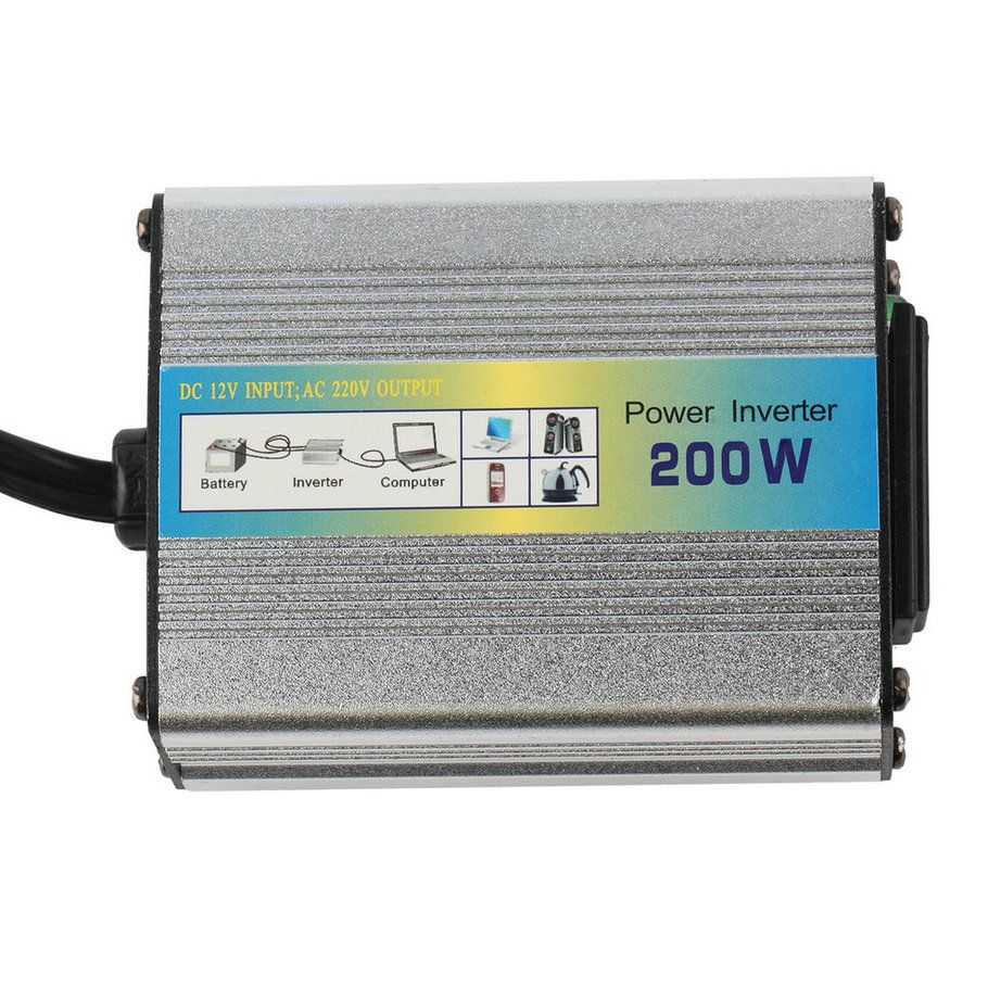 NEW 1pcs 12V DC to AC 220V Car Auto Power Inverter Converter Adapter Adaptor 200W USB  hot selling~