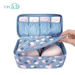 Nueva prueba de agua ropa organizador caja de almacenamiento de ropa interior sujetador embalaje maquillaje maquillaje organizador cosmético del almacenaje del paño de viaje bolsas