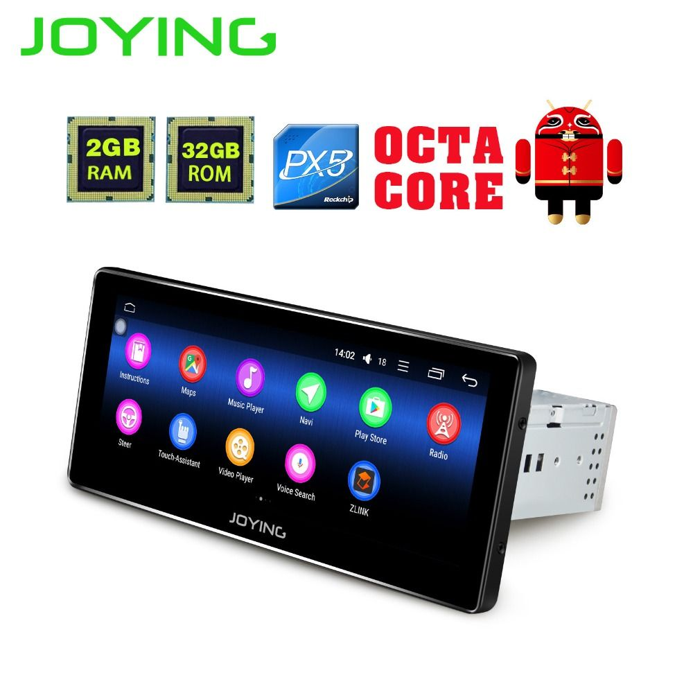 Joying 8.8 inch Android 8.0 Auto Radio Stereo Single 1 din Octa Core Universal Car Media Player HD Capacitive 2GB+32GB Head Unit