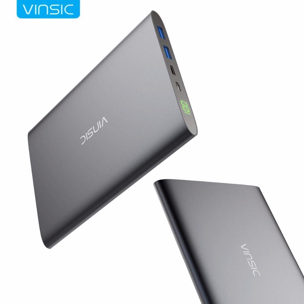 Vinsic 20000 mAh Typ C Power Bank Akku Typ C Externe Batterie ladegerät für iPhone X 8 8 Plus Samsung S8 Xiaomi Huawei