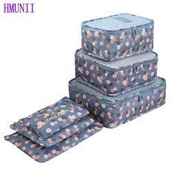6 Pcs/ensemble de Haute Qualité Oxford Tissu Sac De Maille De Voyage Bagages Organisateur Emballage Cube Organisateur Voyage Sacs