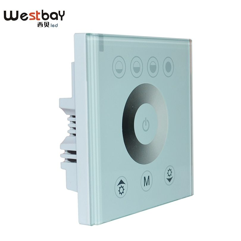 Westbay Touch Panel Dimmer Switch Crystal Glass Wall Switch For DIY Home Lighting DC12-24V Adjustable Light Controller