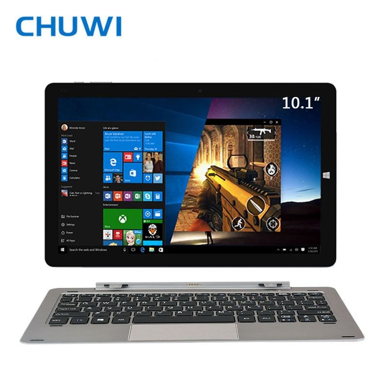 CHUWI Official! 10.1 Inch CHUWI Hi10 Pro Tablet PC Windows10 & <font><b>Android</b></font> 5.1 Dual OS Intel ATOM Z8350 Quad Core 4GB RAM 64GB ROM