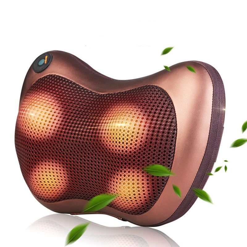 roller massage pillow for neck chair Infrared Heating Kneading Neck Shoulder Car Shiatsu massage & relaxation