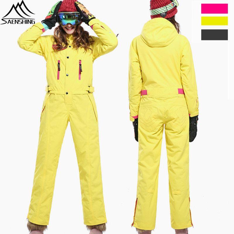 SAENSHING Wasserdicht Skianzug Frauen Skifahren jacke + Snowboard Hosen Im Freien Weibliche Verdicken Super Warm Gesetzt Winter Schnee Overall