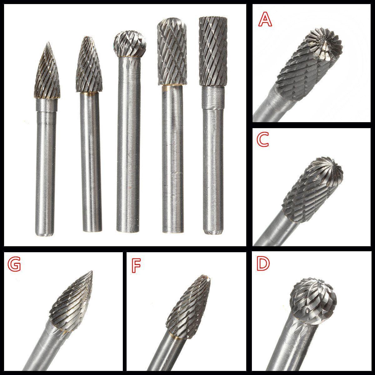 1 STÜCK Typ A/C/D/F/G 6*8 MM Kopf Hartmetall-dreh werkzeug Punkt Grat Sterben Grinder Schleifwerkzeuge Bohrer Fräsen Carving Bit Werkzeuge
