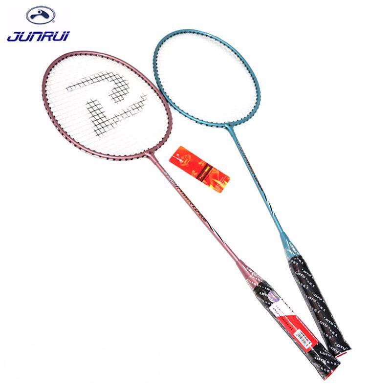 JUNRUI models100 % Original Full Carbon Badminton Schläger Raquette Licht Gewicht Carbon Sport Anzug für Anfänger 1 para