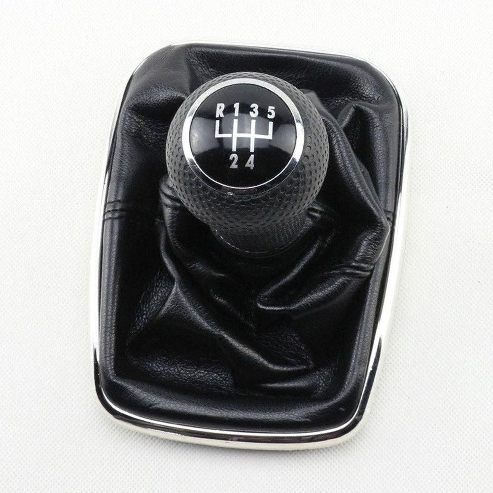 Neue 5 Speed Schaltknauf Gaitor Boot Schwarz PU Leder für VW Golf Bora Jetta MK4 1999-2004