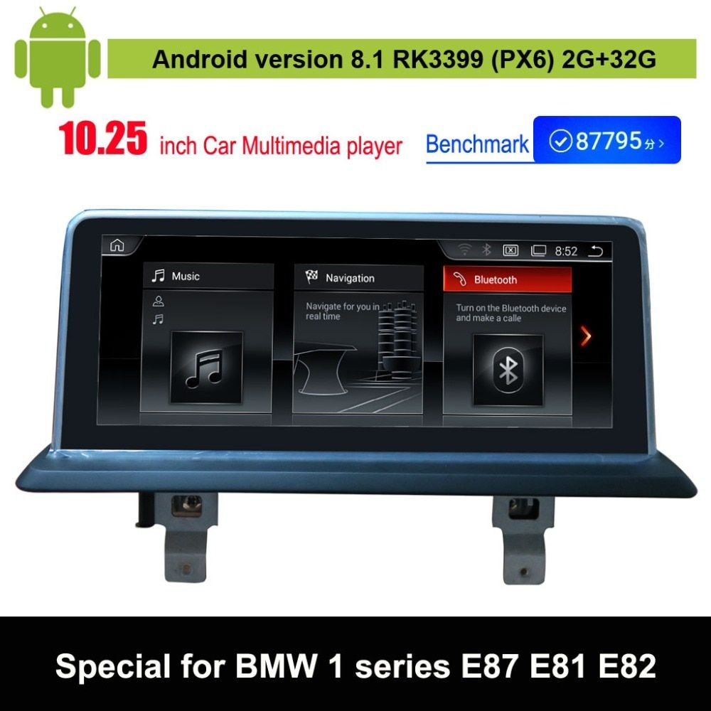 Android 8.1 Car Multimedia Player for BMW 1 series E87 E88 E81 E82 Auto GPS Navigation