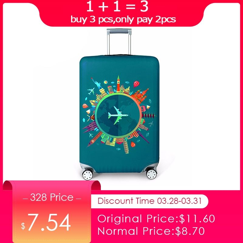 Plus épais valise de voyage couvercle de protection fixation rétractable et mécanisme d'attache de sécurité accessoires de voyage Élastique Bagages housse de protection appliquer à 18 ''-32'' Valise