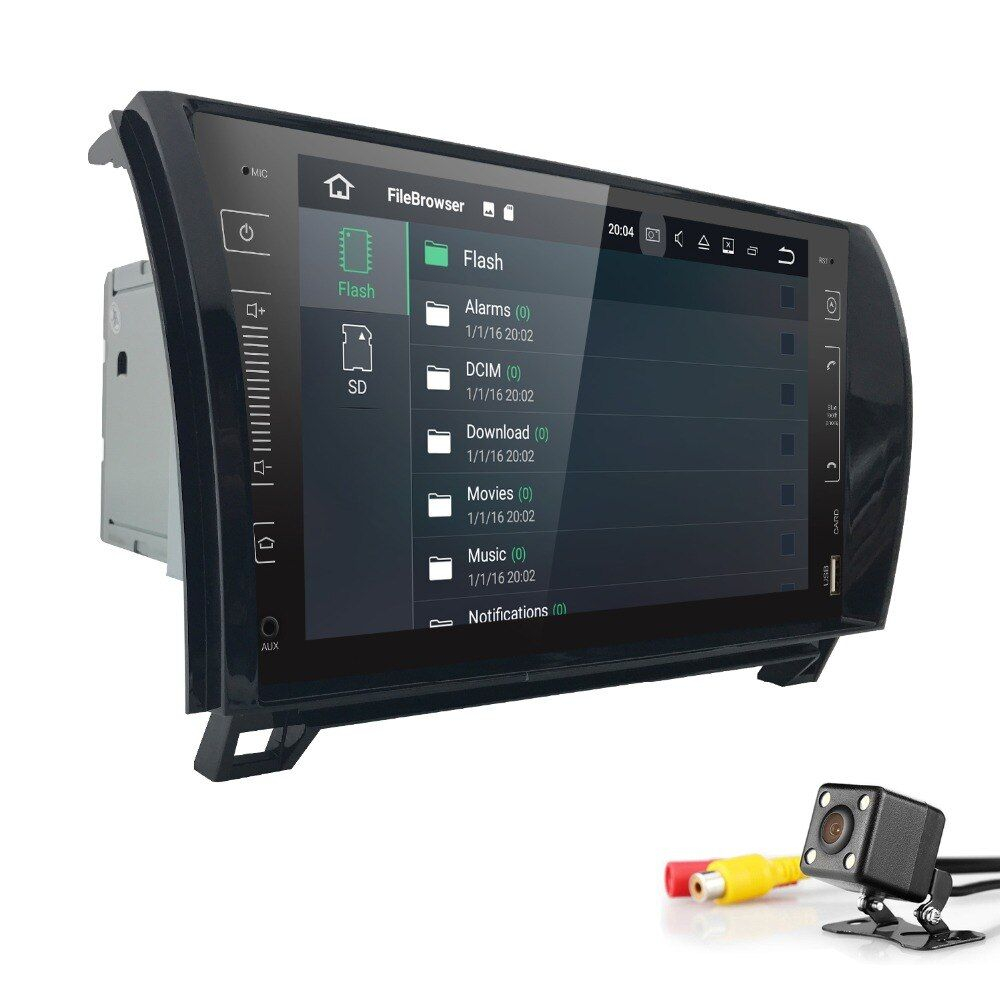 Touch screen Android 8.0 2 Din 9 Inch Car No DVD GPS For Toyota Tundra Sequoia 2008-2013 Stereo Radio Rear camera OBD DVR DAB+