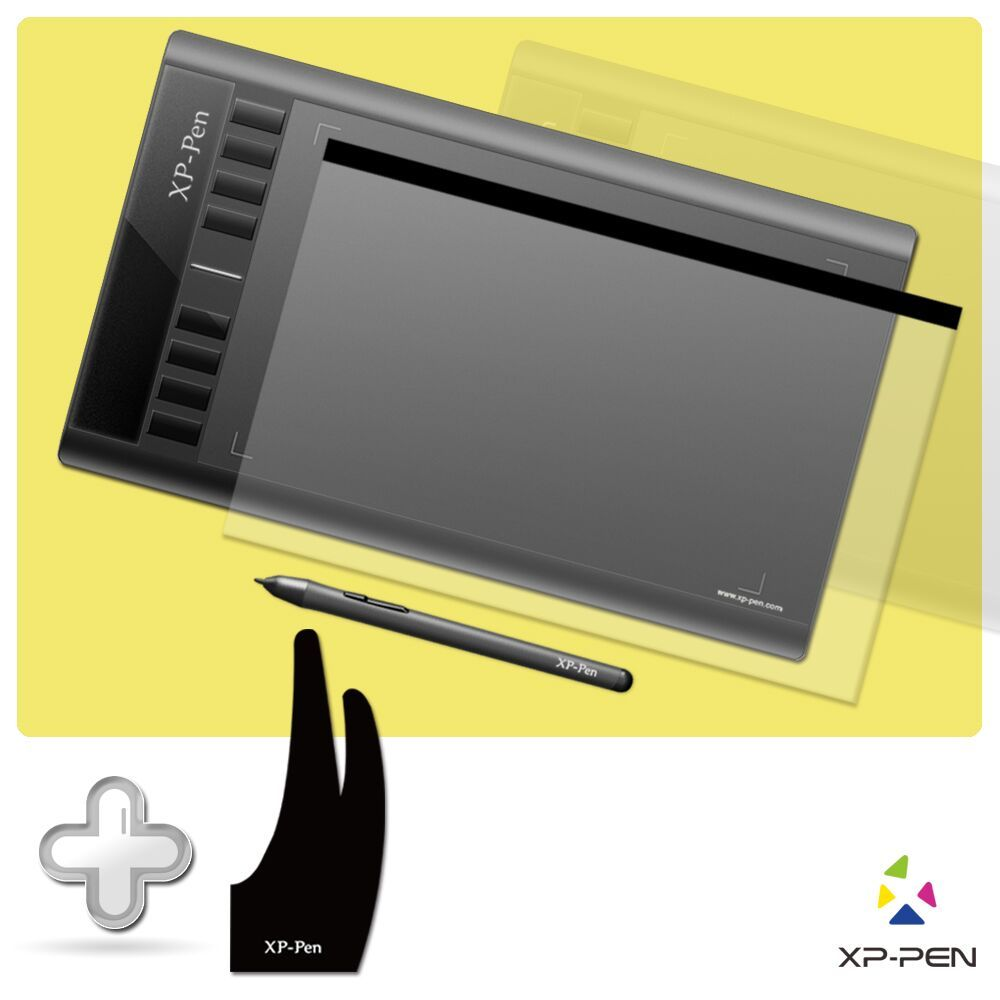 XP-PEN Star03 Passive Pen 12 Digital Graphic Tablet <font><b>drawing</b></font> Tablet with <font><b>Drawing</b></font> Glove and Protective Film