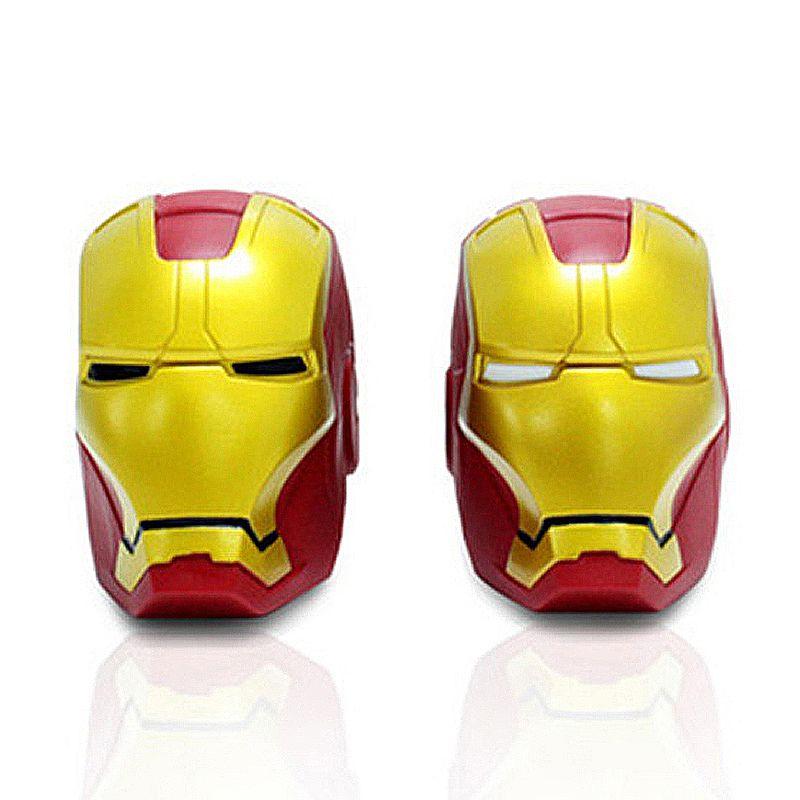 Marv Super héros Avengers fer homme mignon banque de pièces noir blanc yeux tirelire argent économie boîte tirelire Figure boîte jouet 14*10 cm