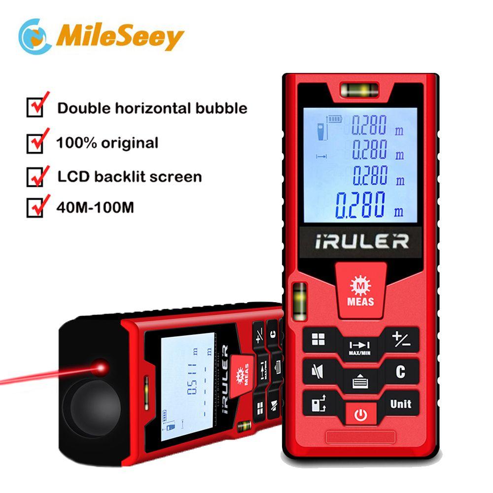 Mileseey S2 laser rangefinder 40m 60m <font><b>100m</b></font> distance measurer laser distance meter