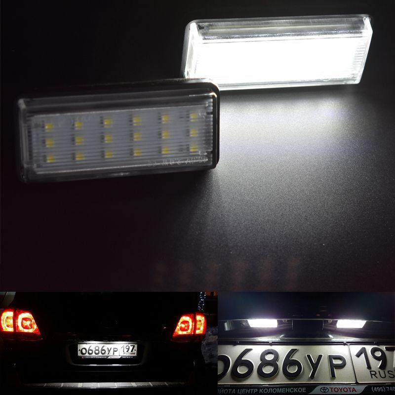 Для Toyota Land Cruiser 120 Prado Land Cruiser 200 Lexus GX470 стайлинга автомобилей Нет Ошибка LED белый сзади номерной знак свет лампы Auto