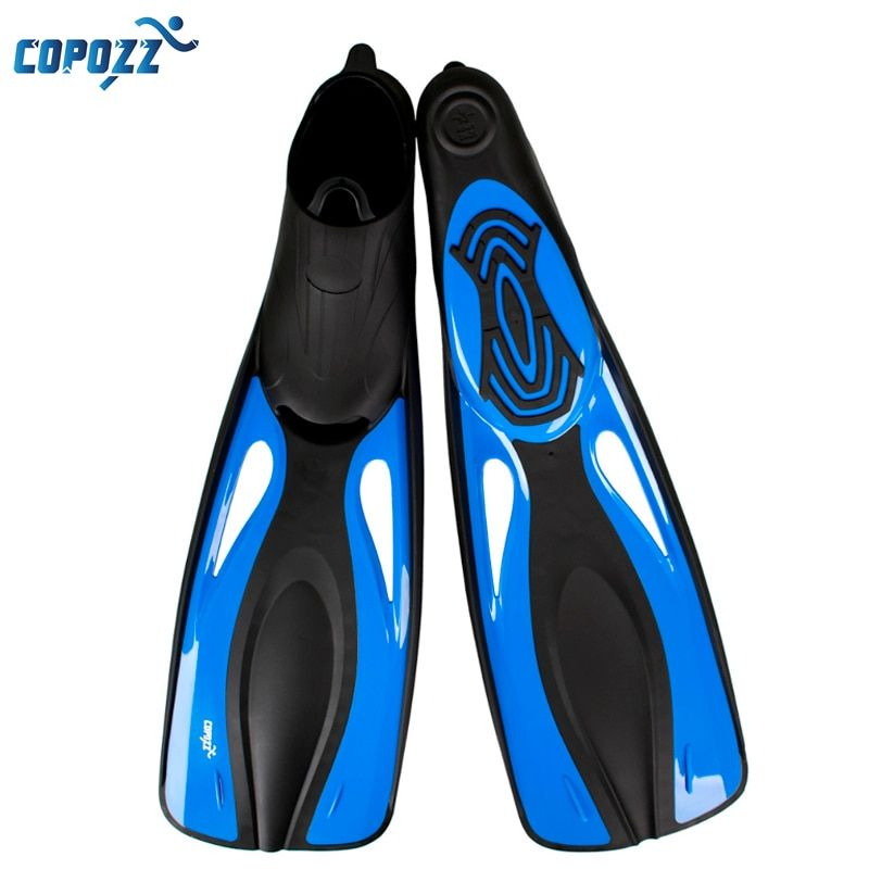 Copozz Long Swimming Fins Webbed Diving Flippers Webbed Training Pool Aletas Nadadeira Men Women boots shoes bota