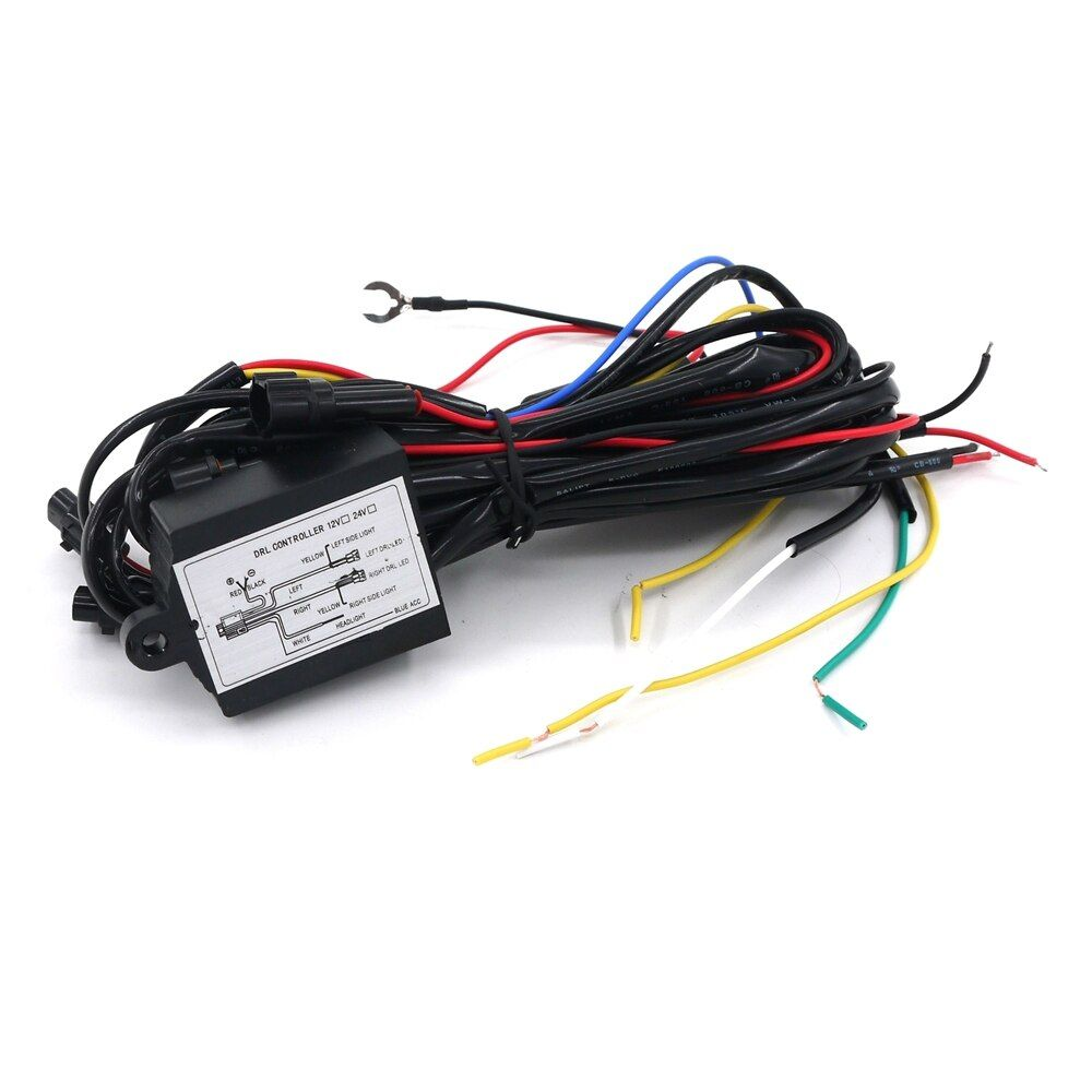 Eonstime 2017 1 шт. 12 В DRL дневные Бег светодиодные Реле Жгут Управление на выключатель диммер авто